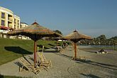 The beach of Polus Palace Thermal Golf Club Hotel in God - exclusive 5 star hotle in Hungary - Polus Palace Thermal Golf Club Hotel God